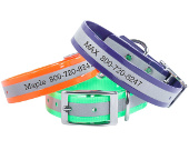 Personalized reflective dog collars