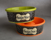 Personalized dog bowl - slow feeder design
