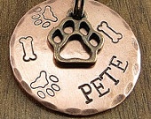 Bronze & Copper Dog ID Tag