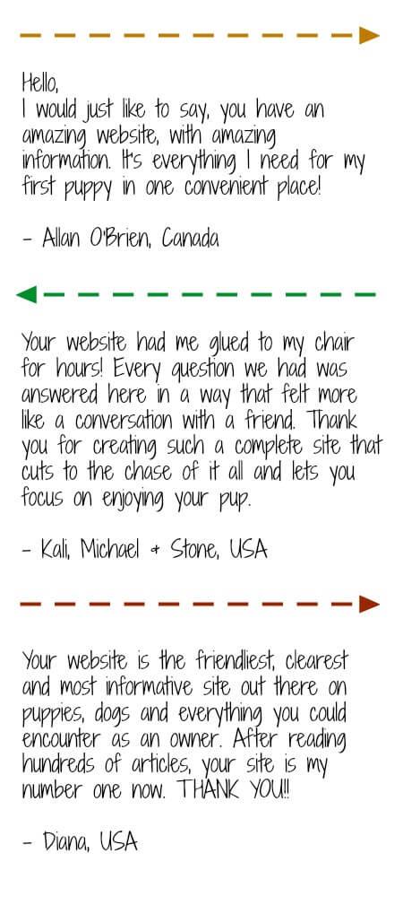 Site visitor testimonials