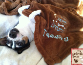 Personalized Fleece dog blanket