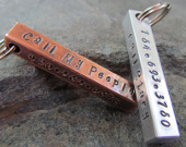 Hand stamped personalized dog ID tags