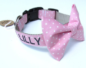 Personalized bow-tie dog collars