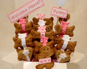 Special Occasion dog treat gift basket - personalized