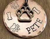 Bronze & Copper Dog ID Tag